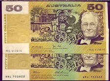 2 x $50   NOTES - PAPER  in  A1 CONDITION - GOING CHEAPLY