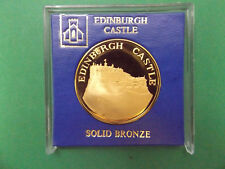 UK EDINBURGH CASTLE SOLID BRONZ MEDALLION