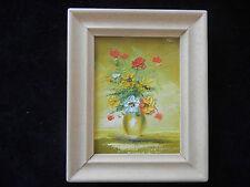 Cuadro al óleo con Marco de madera,pintado a mano,Ramo flores mi Artículo nº 07