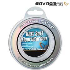 SAVAGE GEAR 100% SOFT FLUOROCARBON FISHING LINE LEADER