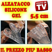 5 SILICONE ALZATACCO SCARPE 10 SOLETTA LIVELLI 5 cm VISTO IN TV ALZA TACCO qc