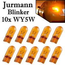 10x Jurmann WY5W 12V Orange Ersatz Blinker Glassockel Halogen Lampe E-geprüft
