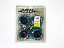 4 Hyper Wheels Superlite 1993 Inline Skate Wheels 78A 12mm Teal NOS