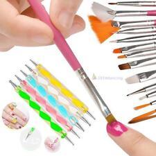 20pcs Nail Art Design Set Dotting Peinture Dessin Polish ROSE Brosse Pen Tool DC