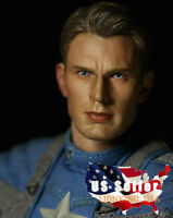 1/6 Chris Evan Captain America Head Sculpt 5.0 For Phicen Hot Toys Figure ❶USA❶