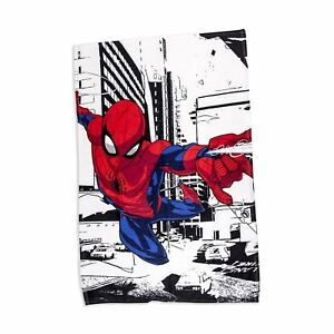 Marvel Spiderman 'Metropolis' Fleece Blanket Bed Throw Avengers