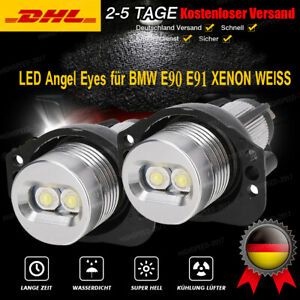 2 Stück LED Angel Eyes Standlicht Ringe für BMW E90 E91 Corona Ringe 7000K