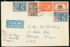 Mayfairstamps MALAYSIA COMMERCIAL 1957 COVER SINGAPORE TO KALAMAZOO MI USA wwh77