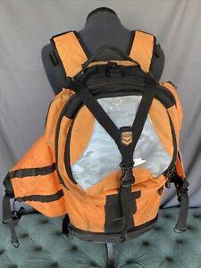 Icon Moto Squad 2 MIL Spec Heavy Duty Motorcycle Backpack Orange Grey Black
