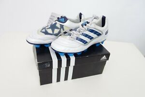 ADIDAS PREOATOR ABSOLION FG J DB YOUTH SOCCER, YOUTH SIZE 2 , WHITE AND BLUE