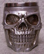 Tankard Goblet Mug Silver Skull Halloween 12 oz pour NEW Stainless Steel Insert