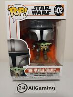 Funko POP! Star Wars The Mandalorian - The Mandalorian with The Child 402 flying