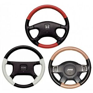 EuroTone 2 Color Leather Steering Wheel Cover for Honda 1980-2019 Wheelskins