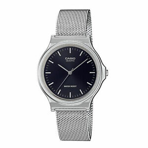 Casio Vintage Black Dial Stainless Steel Bracelet Ladies Watch MQ-24M-1EEF