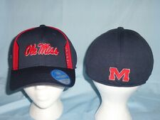 OLE MISS Mississippi REBELS Stretch One-Fit CAP/HAT T.O.W Medium/Large NWT $28