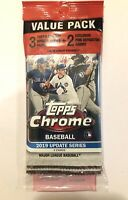 2019 TOPPS CHROME UPDATE MLB Baseball CELLO VALUE PACK w/ Pink Refractors TATIS?