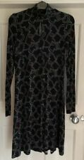 LADIES VERY SKATER DRESS HIGH NECK BLACK HEARTS SIZE 8