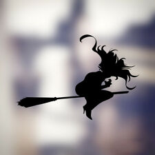 SPOOKY SCARY WITCH HALLOWEEN WALL WINDOW CAR DECAL STICKER HOME DECOR BROOM