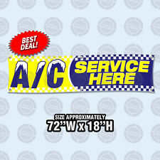 """72""""x18""""  AC SERVICE HERE Banner Sign Air Conditioning Automotive Repair Car Shop"""