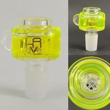 Krave 19mm Freezable Glass Slide Bowl - Honeycomb screen - UV Slime Hookah pipe