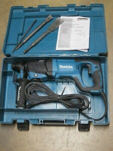 "MAKITA HR2641 1"" AVT ROTARY HAMMER ACCEPTS SDS-PLUS BITS (D-Handle) CASE & 2-BIT"