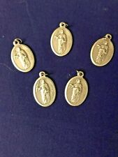 """ST. ROSE of LIMA"" 1"" Silver Oxidized Medals from Italy, lot 5 pcs, NEW"
