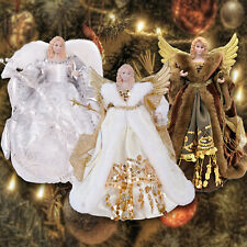 "12"" Christmas Tree Topper Angel Fairy Festive Xmas Tree Top Ornament Decoration"