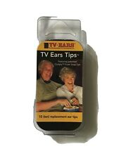 TV Ears Replacement Ear Tips 10 (Ten) Comply Foam Snap Tips 5-Pairs