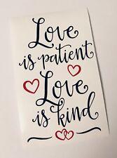 Love Is Patient Valentines Wine Bottle Decal Vinyl Sticker Decor Only