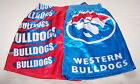 Western Bulldogs AFL Mens Blue Red Satin Boxer Shorts Size XL New