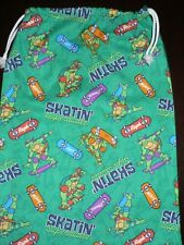 Handmade Library Bags First name Embroidery Free (45 cm x 35 cm) Ninja Turtles