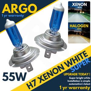 H7 55w Xenon Headlight Bulbs Super White 6500k Lamp Light Effect HID Bulb 12v