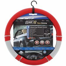 Véritable pouvoir Sumex PVC souple voiture volant HOUSSE-ARGENT & ROUGE # 66