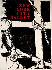 NYC Ballet Vintage 1968 George Segal Serigraph Poster  Don Quixote  Dance