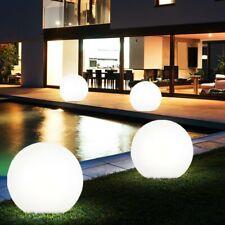 4er Set LED Solar Kugeln Steck Lampen Grundstück Erdspieß Garten Außen Leuchten