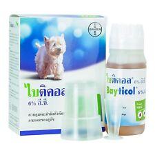 BAYER BAYTICOL 6% EC. For Dog Remove Flea Treatment Control Tick Remedies 100 ml