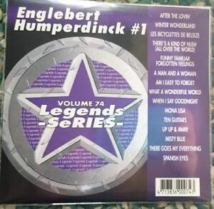 LEGENDS KARAOKE CDG ENGELBERT HUMPERDINCK VOL 1 OLDIES #74 15 SONGS CD+G