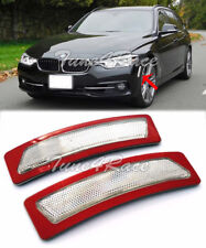 For 16-Up BMW 3-Series F30 F31 Bumper Reflector CLEAR Side Marker Lights Lamps