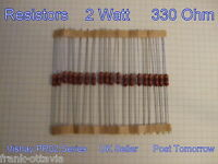 Resistors 330 ohm  metal film  **** Lot of 50  ****  2 Watt  Vishay PR02 Series