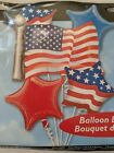 Patriotic American Flag Balloons Bouquet 4th of July Party Decorations