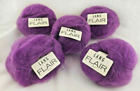 New LANG YARNS Luxury Mohair LOT of 5 Skeins 50gX5 Magenta Switzerland