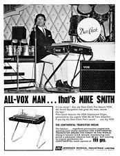 """1965 Dave Clark Five Vox Mike Smith Ad replica 14 x 11"""" Photo Print"""