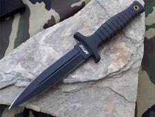 "MTech 9"" Double Edge Belt Boot Field Knife Dagger Black NEW with sheath 097"