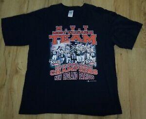 New England Patriots 2002 Super Bowl XXXVl T-Shirt men's size-XL New mint