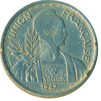 COIN / FRENCH UNION INDOCHINA / 1 PIASTRE 1947      #WT6403