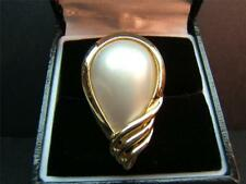 Beautiful VintageTear Drop Mabe Pearl 14K Gold Ladies Cocktail Ring