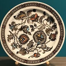 "Jacobean Ridgway Ironstone Staffordshire Brown Multi Colour 10"" Plate England"