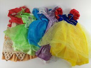 Dress Up Clothes Lot Girls 4-6 Disney Princess Snow White Moana Tinkerbell Etc.