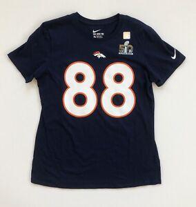Women's Large Demaryius Thomas Denver Broncos Super Bowl 50 Nike Pride T-Shirt