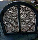 STENCILED GLASS POST CIVIL WAR ERA CHURCH ARCHED WINDOW 1880 ALLENTOWN PA AREA